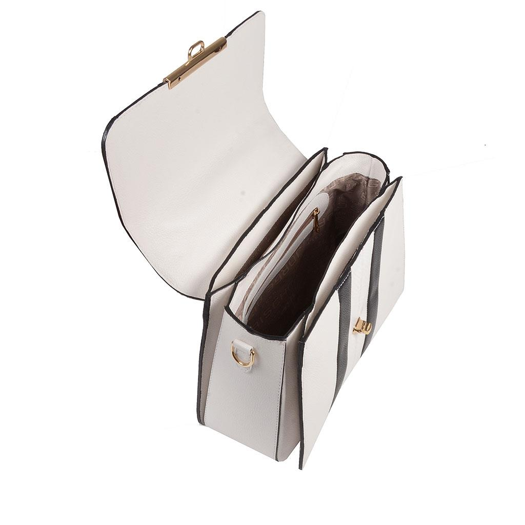 Bolsa estruturada branca I19 3