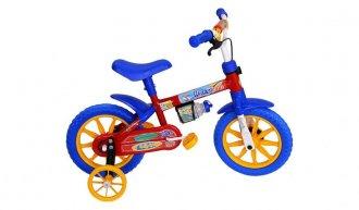 Bicicleta Colli Infantil Aro 12 Vermelha e Azul