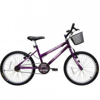Bicicleta Star Girl Mtb Aro 20 c/ Cestao - Cairu