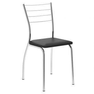 Cadeira Star Cromada C/ Tecido Napa Carraro