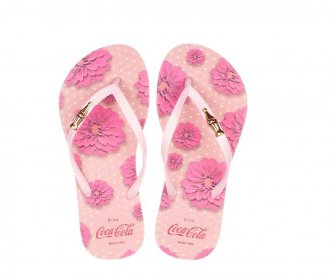 Chinelo Flower Coca Cola