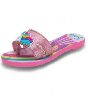 Chinelo Rasteiro Barbie Collorful
