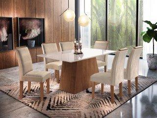 Conjunto Sala de Jantar Sevilha 6 Cadeiras