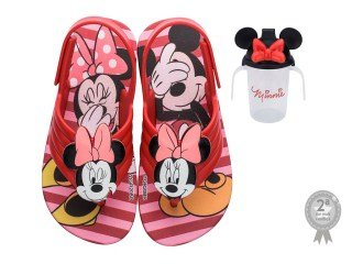 Sandália Minnie e Mickey Com Copinho
