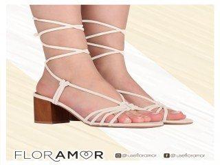 Sandália Salto Amarração Floramor