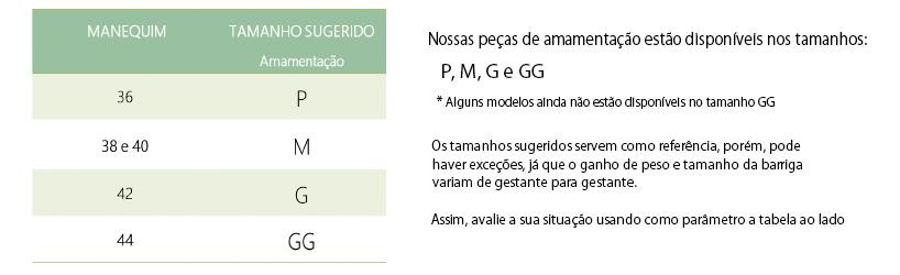 Informações de medidas do produto