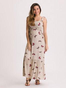 Vestido Amamentação Primavera com Top Lastex