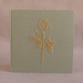 Imagem - álbum de fotos big bordado verde pistache - coleção avós do amor - mim papelaria