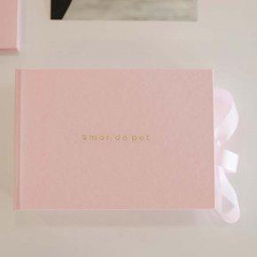 Imagem - caixa para fotos p rosa bebê - coleção amor de pet - mim papelaria