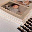 álbum de fotos m em linho cru - coleção coração - mim papelaria 4