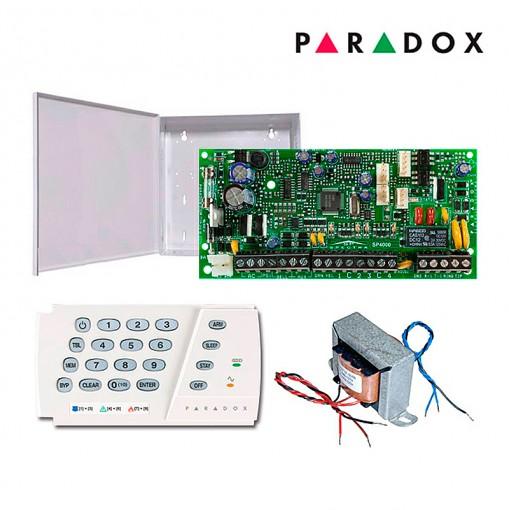 Alarme Residencial Monitorado Paradox SP4000 com Teclado K636 + Caixa e Trafo