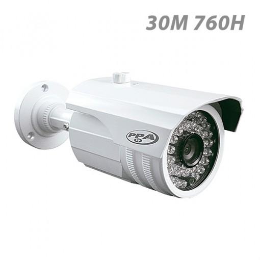 Câmera de Segurança Infravermelho bullet 30 metros externa PPA 760 Linhas CCD 3,6mm