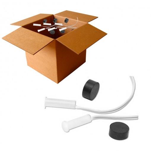 Kit 5 Sensores Magnéticos com fio de Embutir 9103