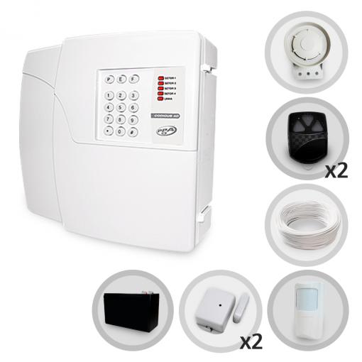 Kit Alarme Residencial e Comercial Sem Fio PPA Com 3 Sensores e Discadora + Bateria Backup (Controles e Sensores Já Configurados)