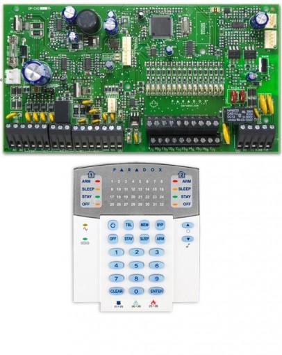 Kit Alarme Residencial Monitorado SP7000 com Teclado K32 - Paradox