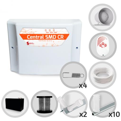 Kit Cerca Elétrica GCP Haste Estrela 4 Isoladores 30 Metros de Muro (Com Bateria)