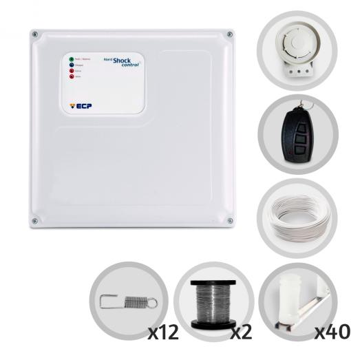 Kit Cerca Elétrica Shock Control ECP Para 120 Metros de Muro (Sem Bateria)