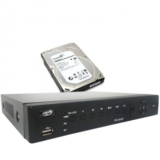 Kit DVR Stand Alone 4 Canais Com Saída HDMI e qualidade HD Luxvision + HD Interno 1TB CF003