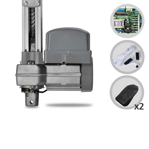 Kit Motor de Portão Eletrônico Basculante PPA Penta Predial Jet Flex Hibrida 1/2 HP