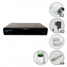 Kit 2 Câmeras de Segurança Infra Dvr 4 Canais Acesso Remoto via Celular + HD 1TB