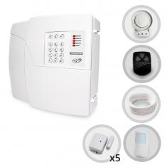 Kit Alarme Residencial e Comercial Codigus 4D PPA Com Discadora + 6 Sensores Sem Fio (Controles e Sensores Não Cadastrados)