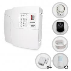 Kit Alarme Residencial ou Comercial 4 Setores Sem Fio PPA Com 7 Sensores e Discadora