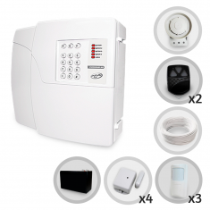 Imagem - Kit Alarme Residencial ou Comercial 4 Setores Sem Fio PPA Com 7 Sensores e Discadora + Bateria para Backup (Controles e Sensores Já Cadastrados)
