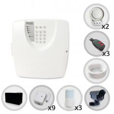 Kit Alarme Residencial ou Comercial Sem Fio Bopo Com 12 Sensores e Discadora