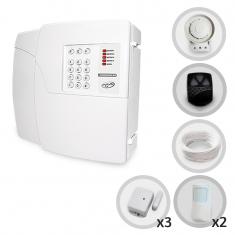 Kit Alarme Residencial ou Comercial Sem Fio PPA Com 5 Sensores e Discadora (Controles e Sensores Já Configurados)