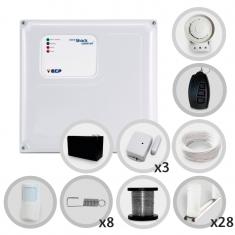 Kit Cerca Elétrica Com Alarme Sem Fio ECP 4 Sensores Para 80 Metros de Muro (Com bateria)