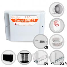 Kit Cerca Elétrica GCP Haste Estrela 4 Isoladores 70 Metros de Muro (Com Bateria)