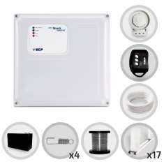 Imagem - Kit Cerca Elétrica Shock Control ECP Para 50 Metros de Muro Completo (Com Bateria)