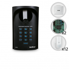 Kit Interfone Digital Completo Comunic 12 Pontos com Porteiro Eletrônico - Intelbras