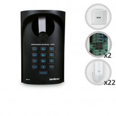 Kit Interfone Digital Completo Comunic 22 Pontos com Porteiro Eletrônico - Intelbras