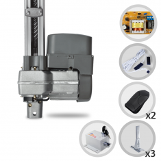 Kit Motor de Portão Eletrônico Basculante PPA Bv Levante 1/4 HP Suporte e Trava