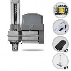 Kit Motor de Portão Eletrônico Basculante PPA Penta Predial SP 1/2 Hp + Suportes