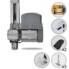 Kit Motor de Portão Eletrônico Basculante PPA Potenza Predial 1/3 HP + Suporte e Trava