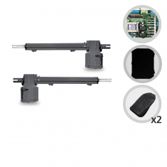 Kit Motor de Portão Eletrônico Pivotante PPA Piston Standard 1/4 Hp Jet Flex