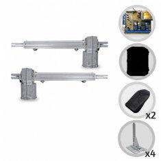 Kit Motor de Portão Eletrônico Pivotante PPA Piston Standard Central Dupla + Suportes