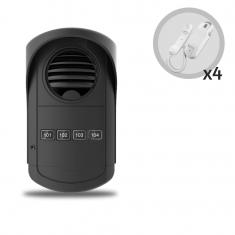 Kit Porteiro Eletrônico Coletivo AGL 4 Pontos Com 4 Monofones S300