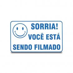Imagem - Placa de Advertência: Você Está Sendo Filmado
