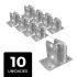 Kit 10 Suportes Para Big Haste Articulável 25x25mm