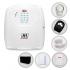 Kit Alarme Residencial JFL Sem Fio Completo com 2 Sensores e Bateria