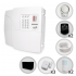 Kit Alarme Residencial ou Comercial Sem Fio PPA Com 5 Sensores e Discadora + Bateria para Backup