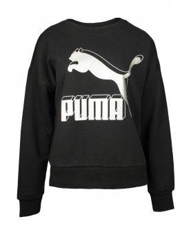 Imagem - Blusão Moletom Puma Classics Logo Metallic Feminino cód: 057036