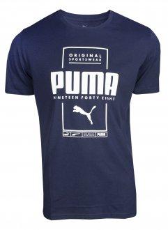 Imagem - Camiseta Algodão Puma Box Masculina cód: 059116