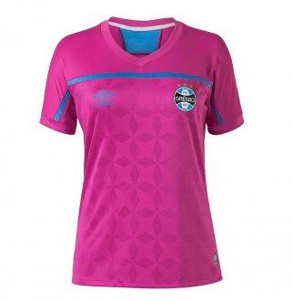 Imagem - Camiseta Umbro Poliéster Grêmio Outubro Rosa Feminina cód: 058357