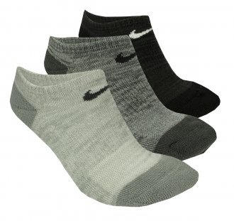 Imagem - Meia Cano Invisível Nike 3 Pack Everyday Cushioned   cód: 056863