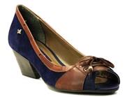 Imagem - Sapato Peep Toe Cravo e Canela Marrom e Azul