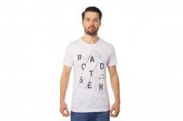 Imagem - Camiseta Masculina Manga Curta Gola Redonda Branca Com Estampa
